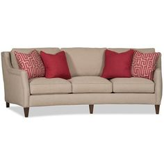 Sam Moore Crawford Sofa Finish: Palisade Dark, Upholstery: 2159 Cranberry