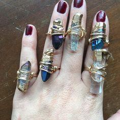 Anillo de cristal / anillo de cuarzo materia prima Anillo