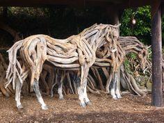 Heather Jansch sculptor News & Open Days bronze & driftwood horses