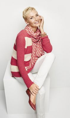 Chico's Horizontal Stripe Harley Pullover Sweater #chicossweeps