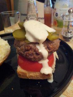Homemade Burger via Jamie Oliver