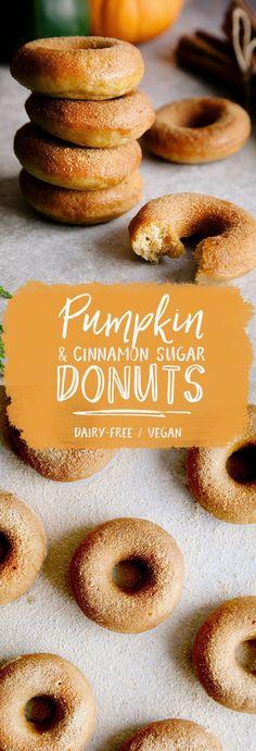 Pumpkin & Cinnamon Sugar Donuts (Vegan) Mini Pumpkin & Cinnamon Sugar Donuts (Vegan) recipe makes 6 small donuts. Double if needed !Mini Pumpkin & Cinnamon Sugar Donuts (Vegan) recipe makes 6 small donuts. Double if needed ! Healthy Vegan Dessert, Vegan Dessert Recipes, Donut Recipes, Vegan Treats, Vegan Foods, Vegan Snacks, Vegan Thanksgiving Desserts, Breakfast Healthy, Breakfast Smoothies