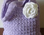 Crochet fat bottom summer shoulder bag, fashion spring/summer/fall shoulder bag, flower bag, country rose bag, fat bottom shoulder bag 2013. $35.00, via Etsy.