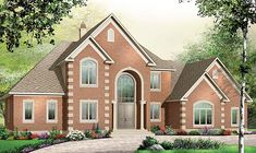 Elevation of European   House Plan 65558