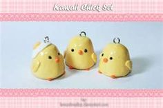 polymer clay baby chick charm