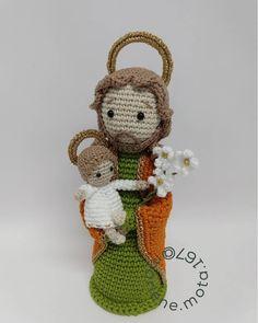 Christmas Nativity, Christmas Ornaments, Diy Crochet, Teddy Bear, Holiday Decor, Instagram, Crochet Purses, Pai, Crafts