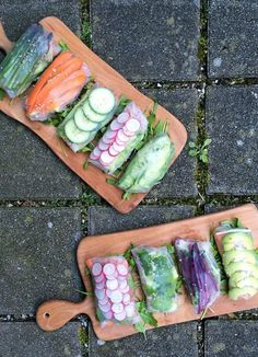 Summer Rolls with Thai Dipping Sauce Cheese Burger, Thai Dipping Sauce, Vegan Food, Vegan Recipes, Rice Paper Wrappers, Summer Rolls, Rice Vinegar, Gluten Free Baking, Cherry Tomatoes