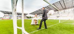 Afterweddingshooting im Stadion von Rot Weiß Essen