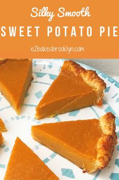 Silky Smooth Sweet Potato Pie – bakes brooklyn With Thanksgiving just six days away, I hope you're all narrowing down your menus. Don't worry, there's still time. If you've forgotten to order a turkey, don't fret–my family hasn't eaten a … Homemade Sweet Potato Pie, Vegan Sweet Potato Pie, Sweet Potato Recipes, Southern Sweet Potato Pie, Sweet Potatoe Pie, Sweet Potato Cobbler, Sweet Potato Cookies, Sweet Potato Dessert, Sweet Potato Brownies