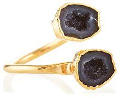 Waverley Black Geode Ring | Of the Earth | One Kings Lane