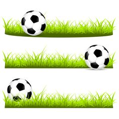 Soccer Party, Soccer Ball, Grass Drawing, Cute Monsters Drawings, Sports Fonts, Sofia The First Birthday Party, Pin Up Drawings, Football Pitch, Cute Banners