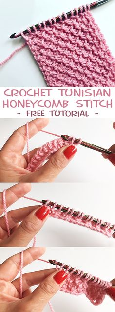 Most up-to-date Absolutely Free tunisian Crochet scarf Strategies Crochet Tunisian Honeycomb Stitch – CROCHET-HUB Crochet Simple, Crochet Diy, Crochet Crafts, Crochet Projects, Sewing Projects, Crochet Double, Knitting Projects, Diy Crafts, Tunisian Crochet Patterns