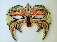 Quilling Mask Quilling Interier disign by bmileticquilling on Etsy