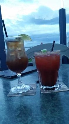 Long Island Iced Tea and a Caesar to start, Rumrunner Pub  |  9881 Seaport Pl , Sidney, British