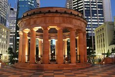 ANZAC Memorial - Brisbane, Australia - beautiful, but don't think this was here in the Brisbane Queensland, Brisbane Australia, South Australia, Australia Travel, Brisbane Gold Coast, Brisbane City, Greek Revival Architecture, Classical Architecture, Anzac Memorial