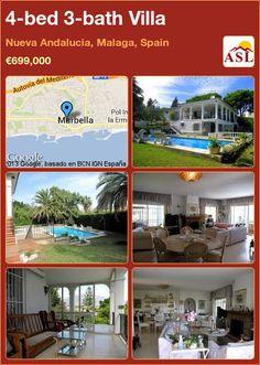 4-bed 3-bath Villa in Nueva Andalucia, Malaga, Spain ►€699,000 #PropertyForSaleInSpain