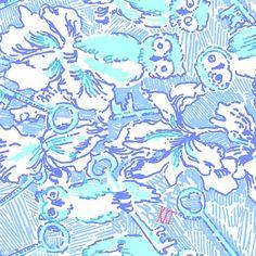 Kappa Kappa Gamma Lilly Pulitzer print: gorgeous blues, the fleur-de-lis, keys and owls. Lilly Pulitzer Prints, Lily Pulitzer, Fabric Patterns, Print Patterns, Big Little Gifts, Kappa Kappa Gamma, Cooler Painting, Sorority Crafts, Sorority Life