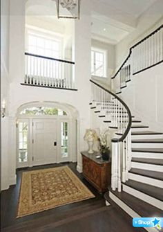 Harrison Ford LA house foyer and staircase