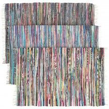 Large Rainbow Chindi Rug Made From Colorful Recycled Fabric