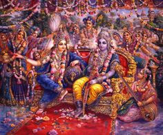 Krsna & Balaram in Dvaraka. Painting by Pushkar das. Krishna Book, Krishna Lila, Krishna Statue, Cute Krishna, Radha Krishna Photo, Krishna Radha, Radha Rani, Durga, Lord Krishna Wallpapers