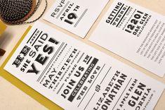 Vintage Newsprint Inspired Wedding Invitations