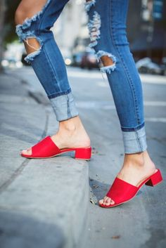 Mules are in? Awesome! Love the color and heel height on these.