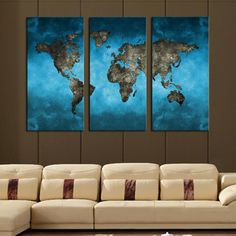 TOO COOL: 3 Piece Map Wall .... Lowest Price Here: http://www.rousetheroom.com/products/3-piece-map-wall-art-set?utm_campaign=social_autopilot&utm_source=pin&utm_medium=pin