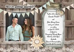 Hey, I found this really awesome Etsy listing at https://www.etsy.com/listing/184838939/rustic-wedding-invitation-5-by-7