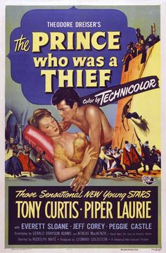tony curtis movie posters | The Prince Who Was a Thief