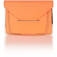 OASIS Metal Edge Structured Clutch ($46) ❤ liked on Polyvore