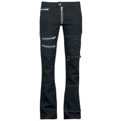 "Vixxsin Cloth Trousers, Women ""Skullstar"" black • EMP"