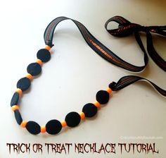 Halloween Necklace Tutorial