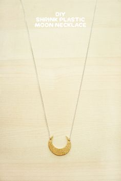 DIY: shrink plastic moon necklace