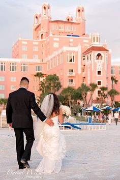 Don Cesar, St Pete Beach Florida, Bride and Groom, Mr, and Mrs, Darryl Wilson Photography, Iza's Flowers Inc