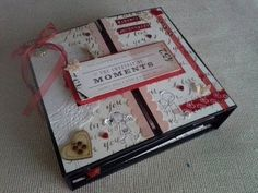 Tutoría: Cómo crear un mini álbum libro de recuerdos   -   Tutorial: How to create a mini album Scrapbook. YouTube