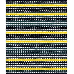 Marimekko Räsymatto Yellow/Black PVC Fabric  - $59.00
