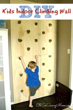 DIY Kids Climbing Wall