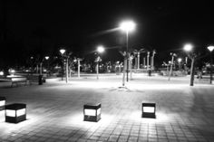 Santurtzi parque por la noche
