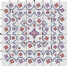 free cross-stitch biscornu pattern.... no color chart, just use pattern chart colors as your guide.. or choose your own colors...