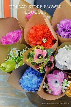 Dollar Store Flower Bouquet - party favor