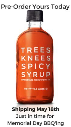 Trees Knees Spicy Syrup : chili-infused maple syrup – MixedMade