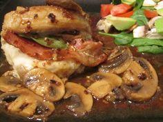 Bacon-Sage Stuffed Pork Chops with Mushrooms