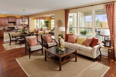 Great Room design ideas... Different furniture but good to reference for placement.