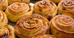 Soft, gooey, fluffy keto cinnamon rolls! Made with the famous fat head dough, they are sugar free and only 1.3 net carbs per roll.