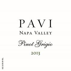 2013 Pavi Wine Pinot Grigio Napa Valley 750 mL Wine -- More details @