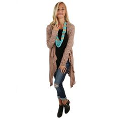 This lightweight cardigan is perfect for transitioning to fall!