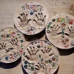 Kids' handprints preserved in time