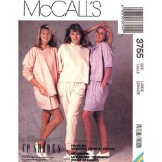 Womens 1980s Sewing Pattern McCalls 3755 by finickypatternshop