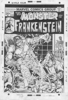 Frankenstein #1 Comic Art