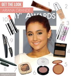 Get the look: Ariana Grande - Rocking a faux glow isn't always easy, but Ariana Grande time and time again makes it looks effortless. The budding singer, and former Nickelodeon star, Ariana Grande 2011, Ariana Grande Body, Ariana Grande Makeup, Ariana Grande Photoshoot, Adriana Grande, Ariana Grande Drawings, Pretty Makeup, Makeup Looks, Makeup Style